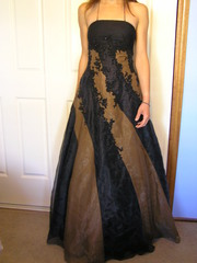 Gorgeous Unique hand beaded formal gown