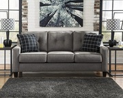 BRONTY FABRIC LOUNGE 3 SEATER CHARCOAL