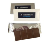 Printed Australian Made Milk Chocolate in Silver Wrapper