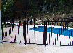 Flat top black aluminium pool panels $79.00 ea